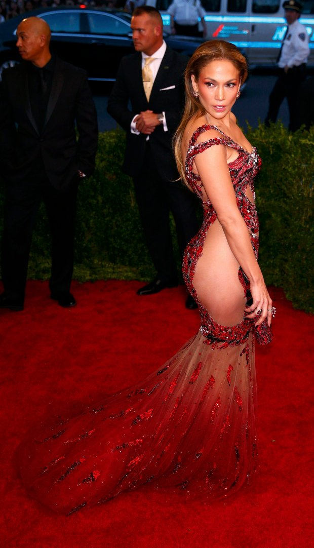 Jennifer Lopez arrives at the Metropolitan Museum of Art Costume Institute Gala 2015 celebrating the opening of