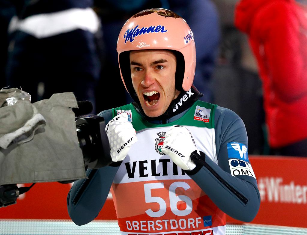 Stefan Kraft wygrał kwalifikacje w Oberstdorfie. Turniej Czterech Skoczni, Austria, 29 grudnia 2018