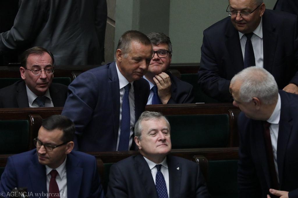 Marian Banaś i politycy PiS. 85. posiedzenie Sejmu VIII kadencji, Warszawa, 30 sierpnia 2019