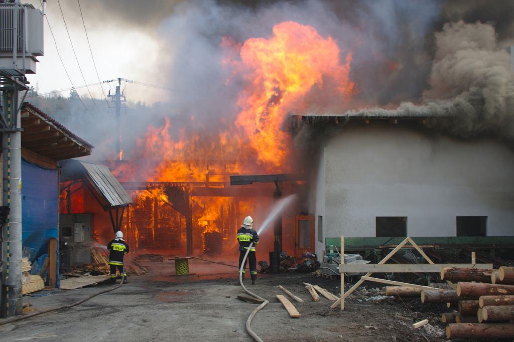 Wyrzucił niedopałek i wywołał ogromny pożar   Zdjęcie ilustracyjne