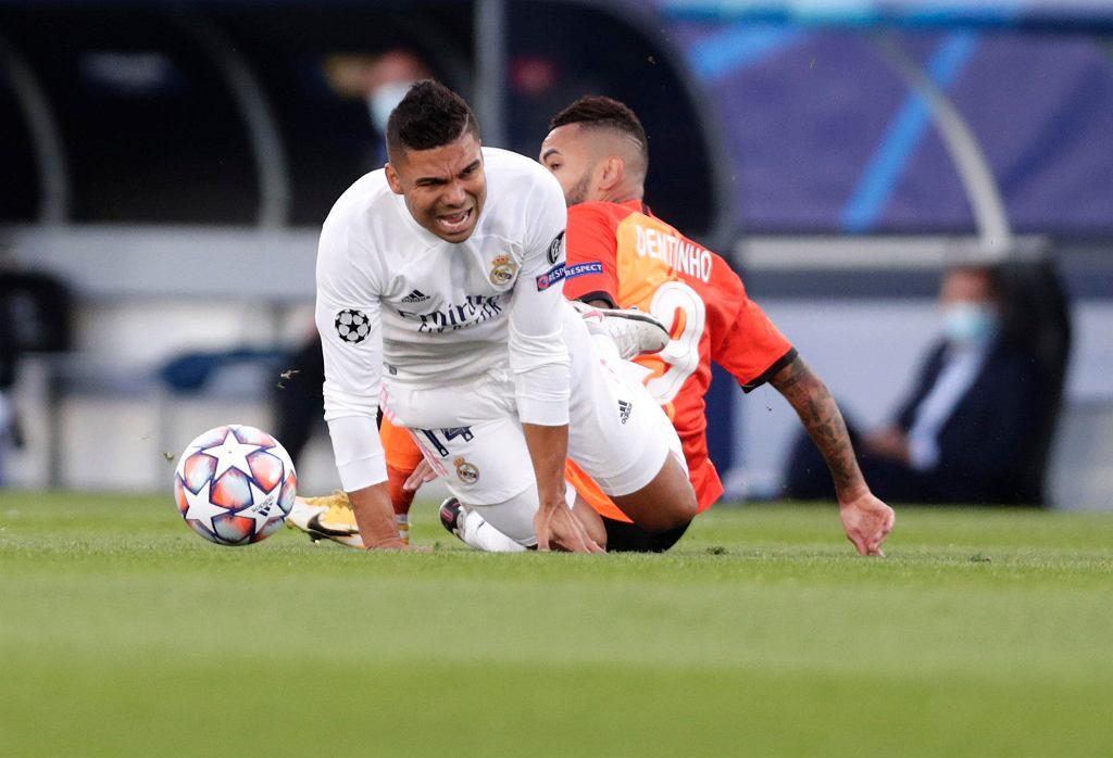 Casemiro z Realu Madryt w meczu z Szachtarem Donieck
