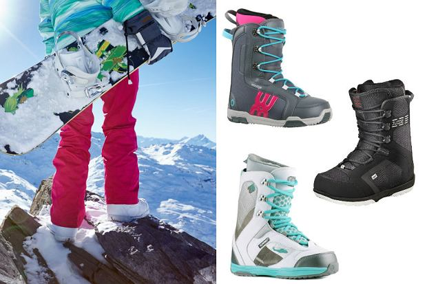 Kolaż / Buty snowboardowe / Materiały partnerów