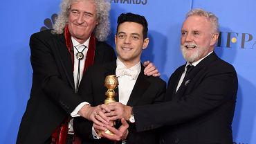 76. gala rozdania Złotych Globów: Brian May, Rami Malek i Roger Taylor ('Bohemian Rhapsody')