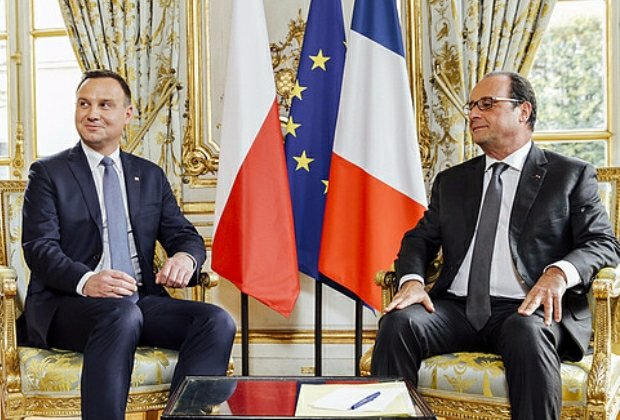 Andrzej Duda i Francois Hollande