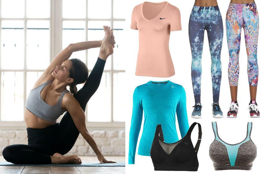 Kolaż / Strój na jogę / Materiały partnerów