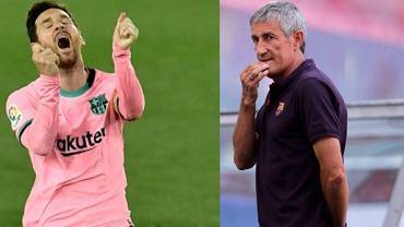 Lionel Messi i Quique Setien