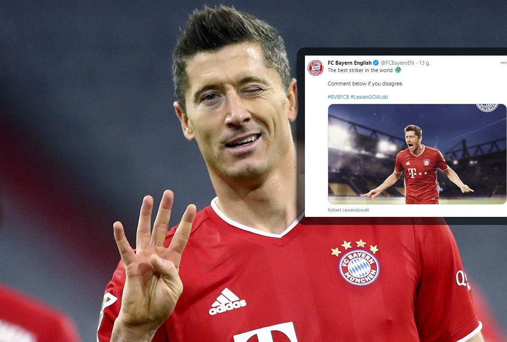 Bayern wrzucił wpis o Lewandowskim