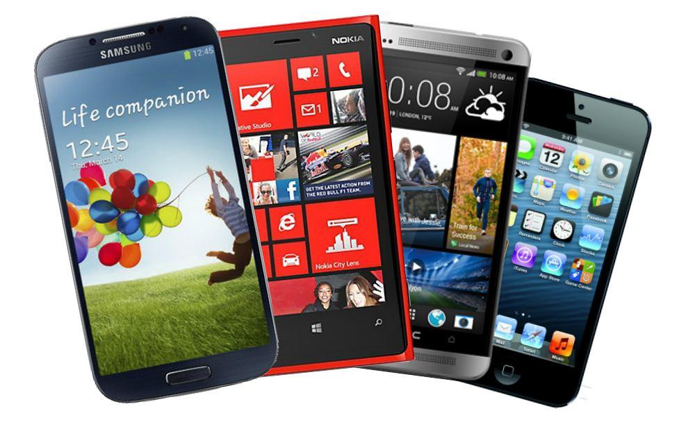 Samsung Galaxy S4, Nokia Lumia 920, HTC One i iPhone5