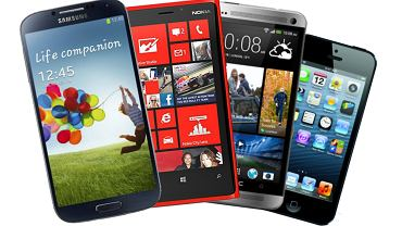 Samsung Galaxy S4, Nokia Lumia 920, HTC One i iPhone5
