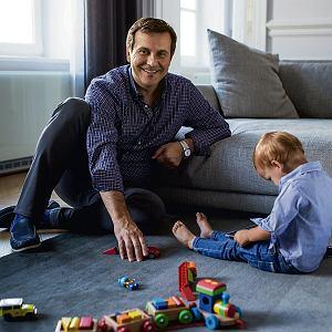 Maciej Leśniak z synem