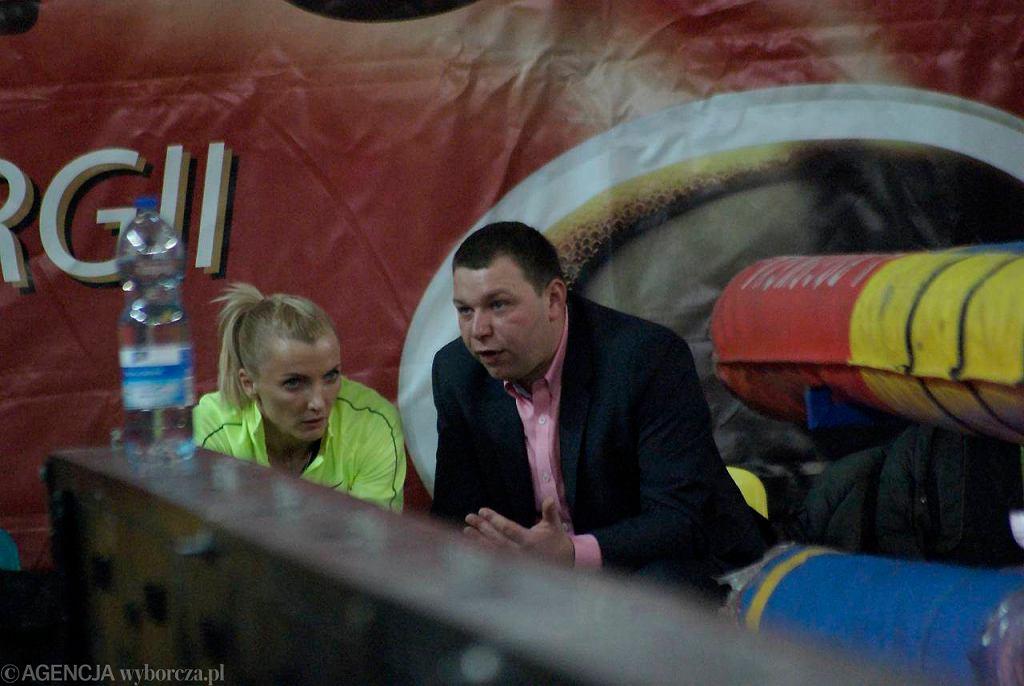Anna Rogowska i trener Jacek Torliński