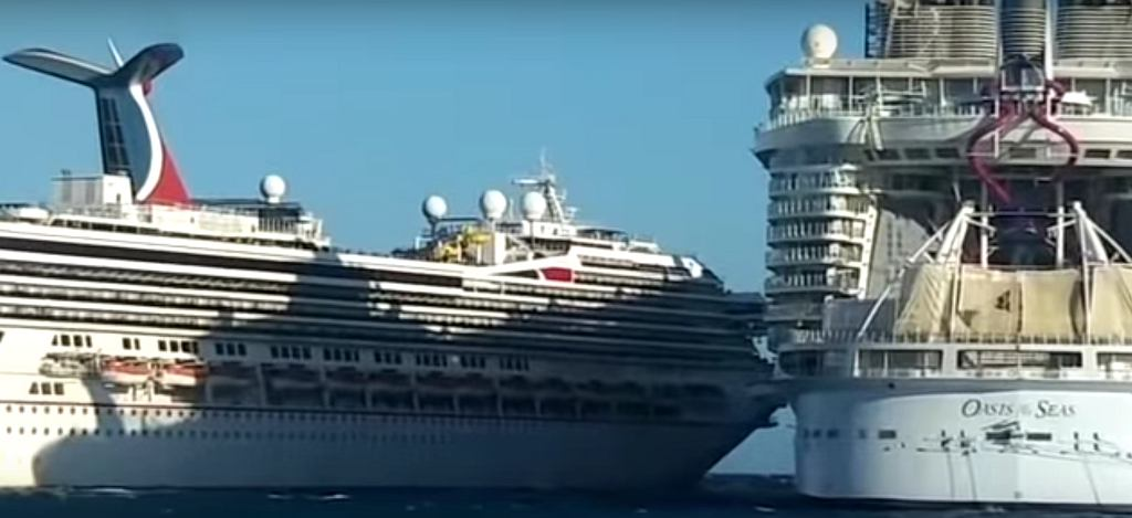 Meksyk. Zderzenie dwóch wycieczkowców (YouTube/Cruise Law)