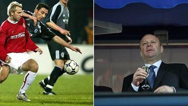 Wisła wyeliminowała Schalke. Na zdjęciach: Maciej Żurawski (po lewej) i Bogusław Cupiał (po prawej)