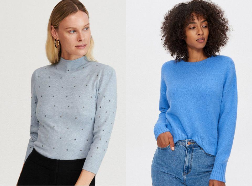 Swetry w odcieniach niebieskiego