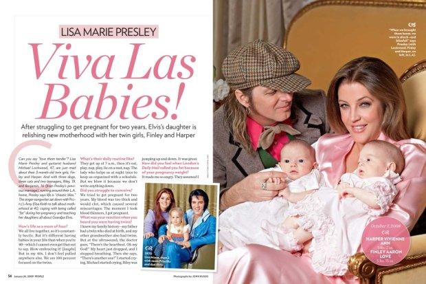 Lisa Marie Presley z córkami