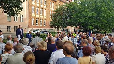 Protest na pl. Daszyńskiego