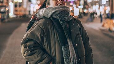 pikowana kurtka plus size