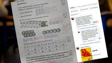 Uczeń uzyskał prawidłowy wynik na sprawdzianie z matematyki, ale nauczyciel odjął mu połowę punktów