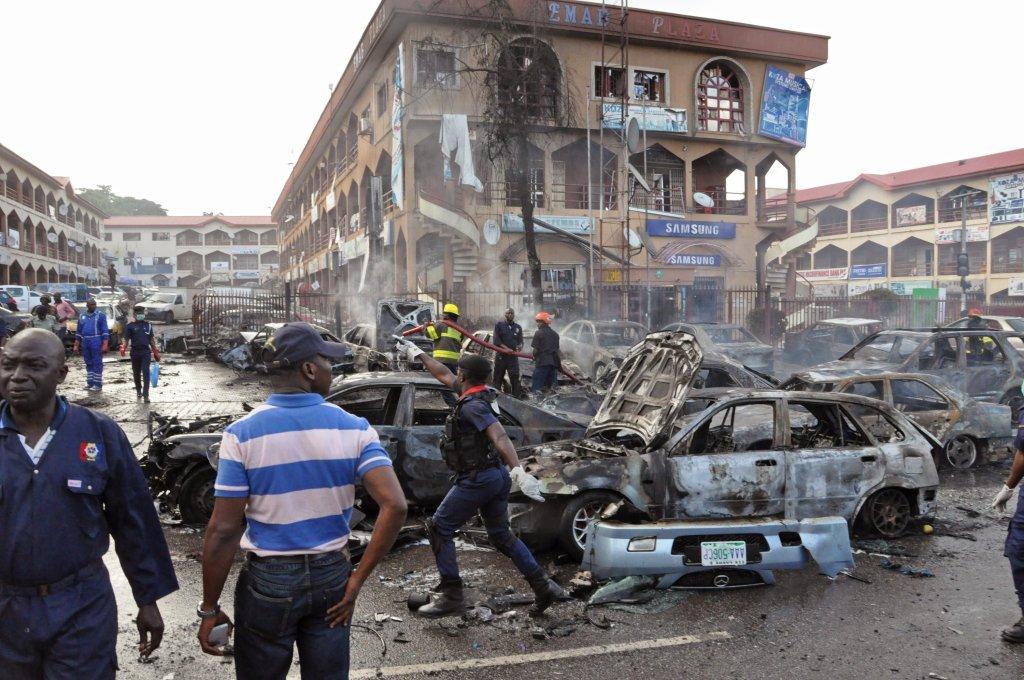 Wybuch w centrum handlowym w Abudży