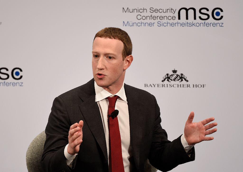 Mark Zuckerberg na konferencji bezpieczeństwa w Monachium
