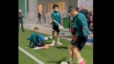 Lewandowski na treningu pokazał sztuczkę
