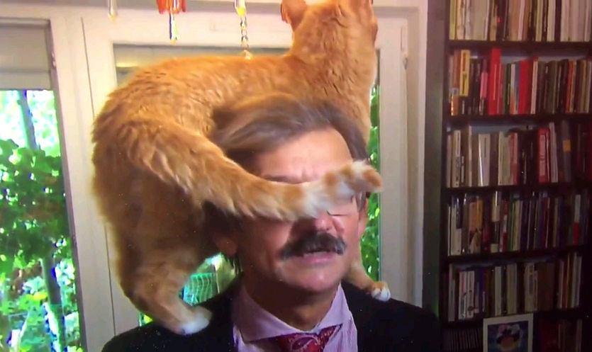 Jerzy Targalski i jego kot