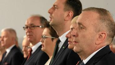 Liderzy Koalicji Obywatelskiej podczas konwencji w Poznaniu