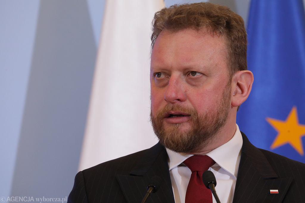 Konferencja prasowa w Kancelarii Prezesa Rady Ministrw w Warszawie na temat koronawirusa