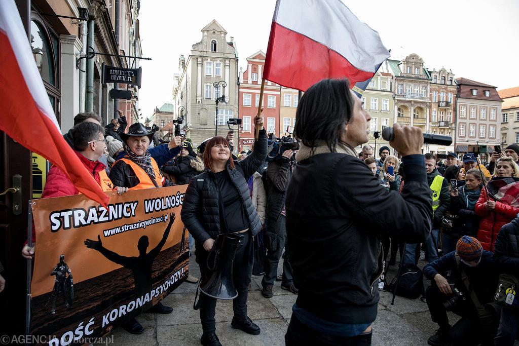 Manifestacja przeciwników lockdownu i szczepień, pod hasłem 'Marsz o wolność'. Gwiazdą był Ivan Komarenko