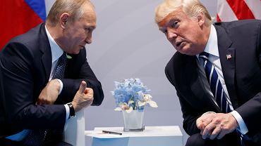 Donald Trump i Władimir Putin, Hamburg, 7 lipca 2017 r.