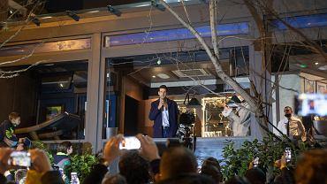 Célébration de la Serbie Djokovic