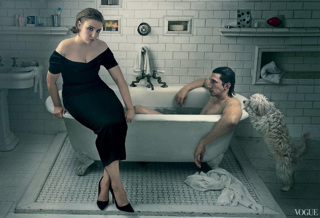 Lena Dunham w sesji okładkowej dla 'Vogue'