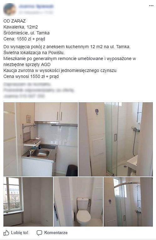 Maleńka kawalerka na ul. Tamki