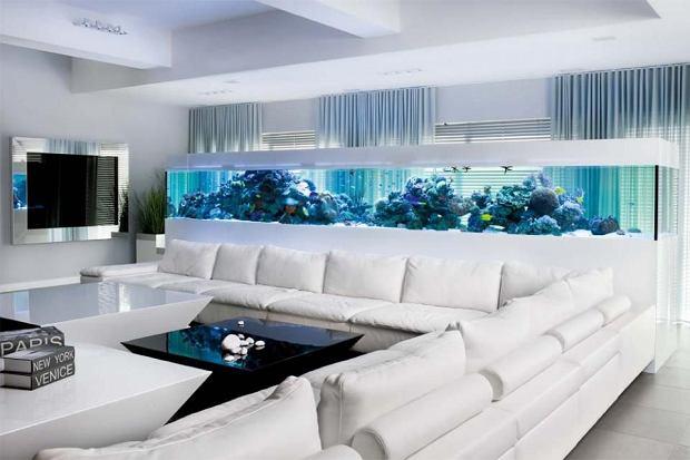 Dom z akwarium