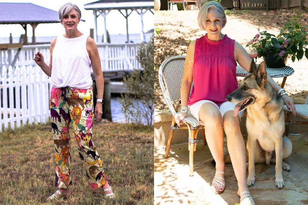 Bluzki bez rękawów dla kobiet po 50-tce