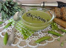 Zupa krem z zielonego świeżego groszku - ugotuj