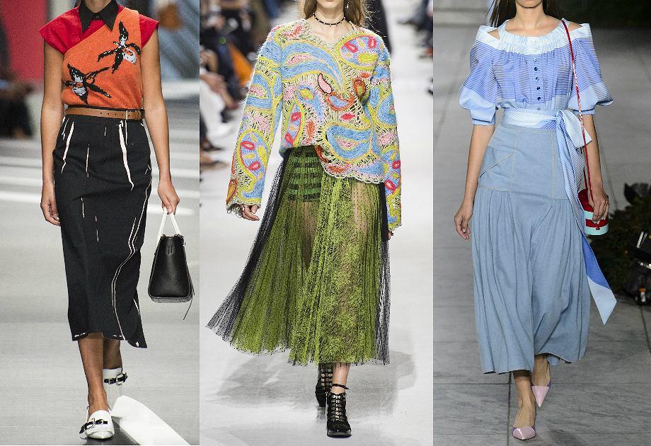 65699841 Najmodniejsze spódnice na rok 2018 - trzy fasony z wybiegów łatwe do ...