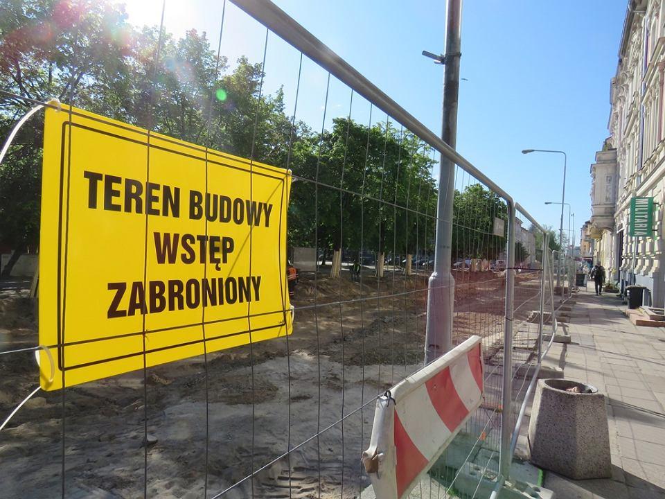 Pierwszy etap przebudowy ul. Chrobrego i Mieszka I. Maj 2020 r.