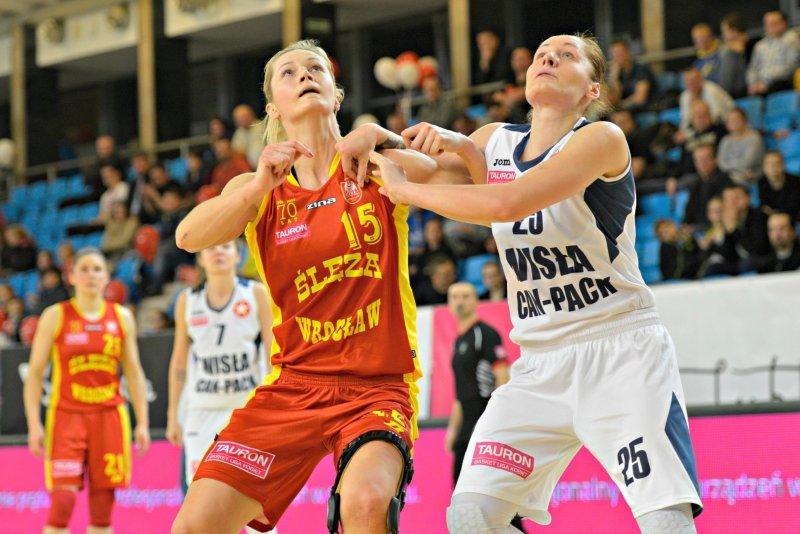 Magdalena Leciejewska w meczu Ślęza Wrocław - Wisła Can-Pack Kraków