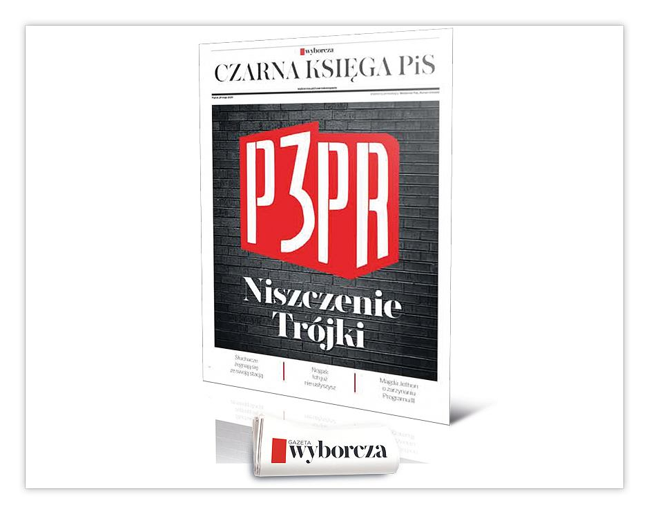 'Czarna Księga PiS Niszczenie Trójki' już w piątek, 29 maja w 'Wyborczej'.