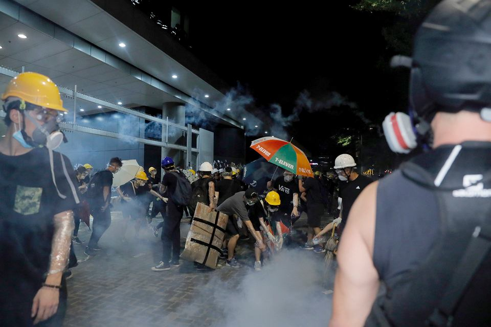 Protest w Hongkongu, 1 lipca 2019 r.
