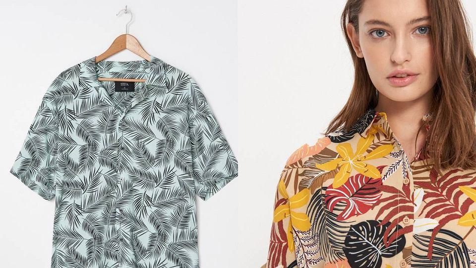 Hawajskie koszule z krótkim rękawem