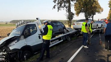 Wypadek w Wójcinie w pow. opoczyńskim