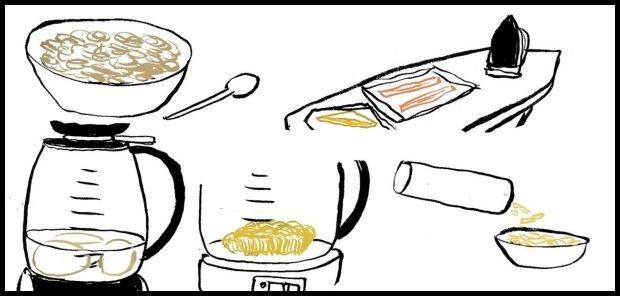 Ilustracje z poradnika o gotowaniu