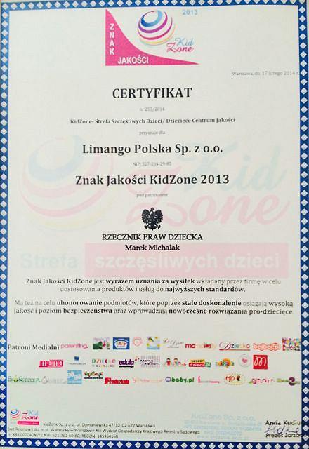 Certyfikat KidZone w tym roku dla Limango