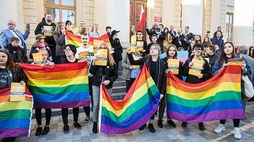 Lublin. Protest w obronie Marszu Równości