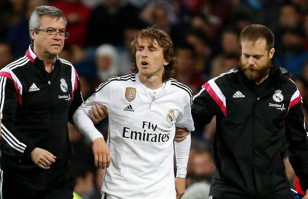 Luka Modrić kontuzjowany podczas meczu z Malagą