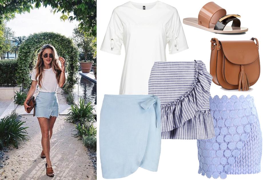 Spódnica mini na lato