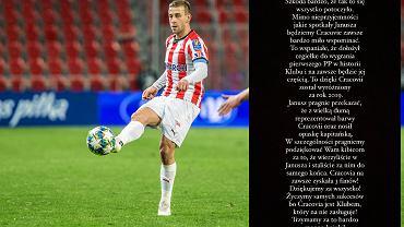 Janusz Gol odchodzi z Cracovii