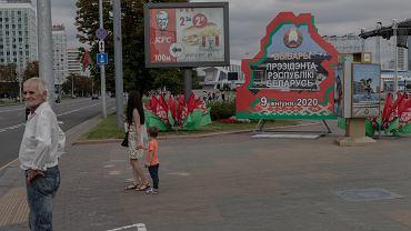 5.08.2020, ulice Mińska na kilka dni przed wyborami prezydenckimi.
